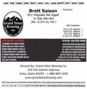 Grand Teton Brewing Company Brett Saison