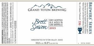 Grand Teton Brewing Company Brett Saison 2015