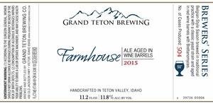 Grand Teton Brewing Company Farmhouse 2015