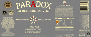 Paradox Beer Company Trois Ans