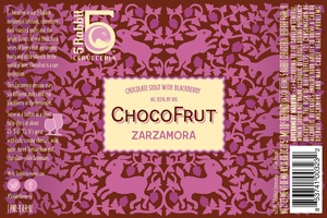 5 Rabbit Chocofrut Zarzamora