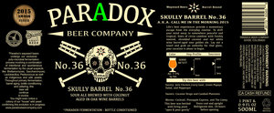 Paradox Beer Company Skully Barrel No. 36