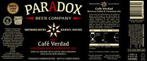 Paradox Beer Company Cafe Verdad
