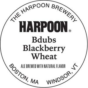 Harpoon Bdubs Blackberry Wheat