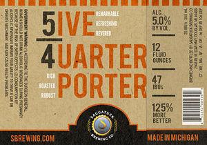 Saugatuck Brewing Company Five Quarter Porter