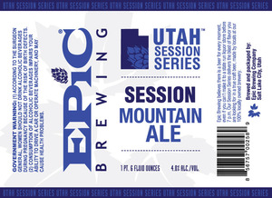 Epic Brewing Company Utah Session Series Mountain Ale