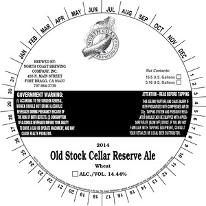 North Coast Brewing Co. Old Stock 2014 Cellar Reserve