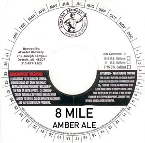Atwater Brewery 8 Mile Amber Ale