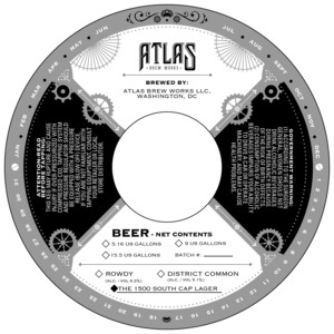 Atlas Brew Works The 1500 South Cap Lager