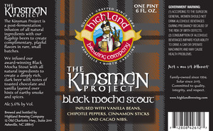 Highland Brewing Co. The Kinsman Project Black Mocha