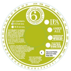 West Sixth Brewing Second Fiddle Simcoe India Pale