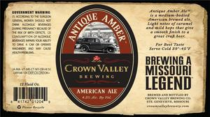 Crown Valley Brewing Co Antique Amber