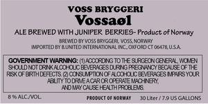 Voss Bryggeri VossaØl