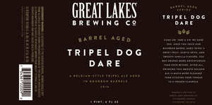 The Great Lakes Brewing Co. Barrel Aged Tripel Dog Dare