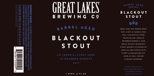 The Great Lakes Brewing Co. Barrel Aged Blackout Stout
