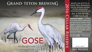 Grand Teton Brewing Gose