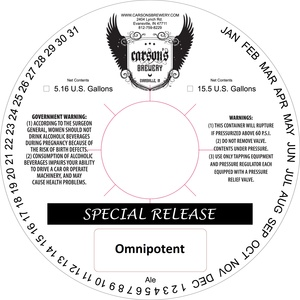 Carson's Brewery Omnipotent
