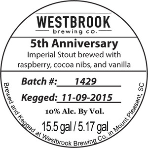 Westbrook Brewing Company 5th Anniversary