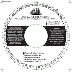 Tuckahoe Brewing Company Peaches Berliner Style Ale