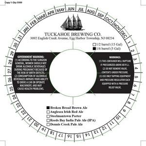 Tuckahoe Brewing Company Broken Bread Brown Ale