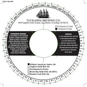 Tuckahoe Brewing Company Kohatu American Amber Ale