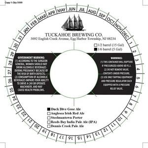 Tuckahoe Brewing Company Duck Dive Gose Ale