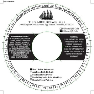 Tuckahoe Brewing Company Brett Table Saison Ale