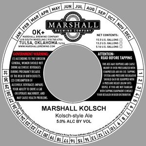 Marshall Brewing Company Marshall Kolsch