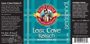 Highland Brewing Co. Lost Cove Kolsch