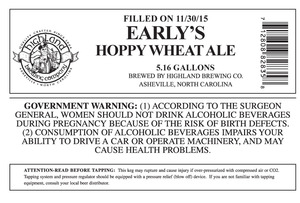Highland Brewing Co. Early's Hoppy Wheat