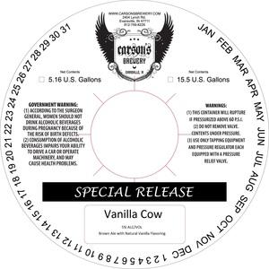 Carson's Brewery Vanilla Cow