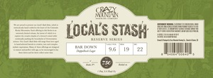 Crazy Mountain Brewing Company Bar Down
