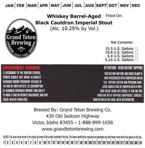 Grand Teton Brewing Company Whiskey Barrel Aged Black Cauldron