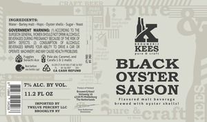 Kees Black Oyster Saison