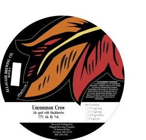 Allagash Brewing Company Uncommon Crow