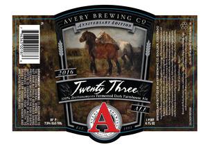 Avery Brewing Co. Twenty Three