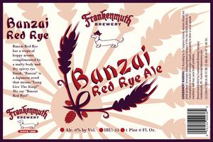 Frankenmuth Banzai Red Rye