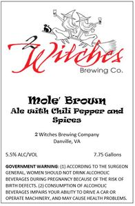 2 Witches Brewing Company Mole' Brown