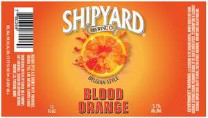 Shipyard Brewing Co Blood Orange