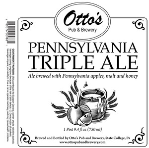 Otto's Pub And Brewery Pennsylvania Triple Ale January 2016