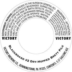 Victory Blackboard Dry-hopped Brett Pils