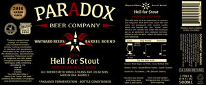 Paradox Beer Company Hell For Stout