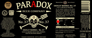 Paradox Beer Company Skully Barrel No. 37
