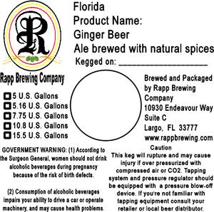 Rapp Brewing Ginger Beer