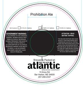 Atlantic Brewing Prohibition Ale