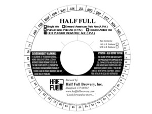 Half Full Hot Pursuit India Pale Ale (i.p.a.)