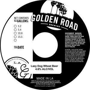 Golden Road Lazy Dog Wheat Beer