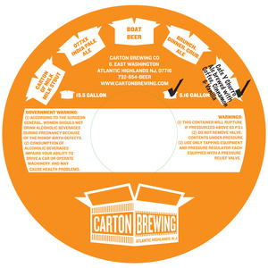 Carton Brewing Co. Cafe Y Churro