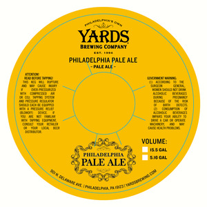 Yards Brewing Company Philadelphia Pale Ale