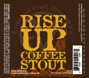 Evolution Craft Brewing Rise Up Stout